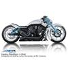 Front cartridge pair for Harley-Davidson V-Rod stock wheel with inverted forks