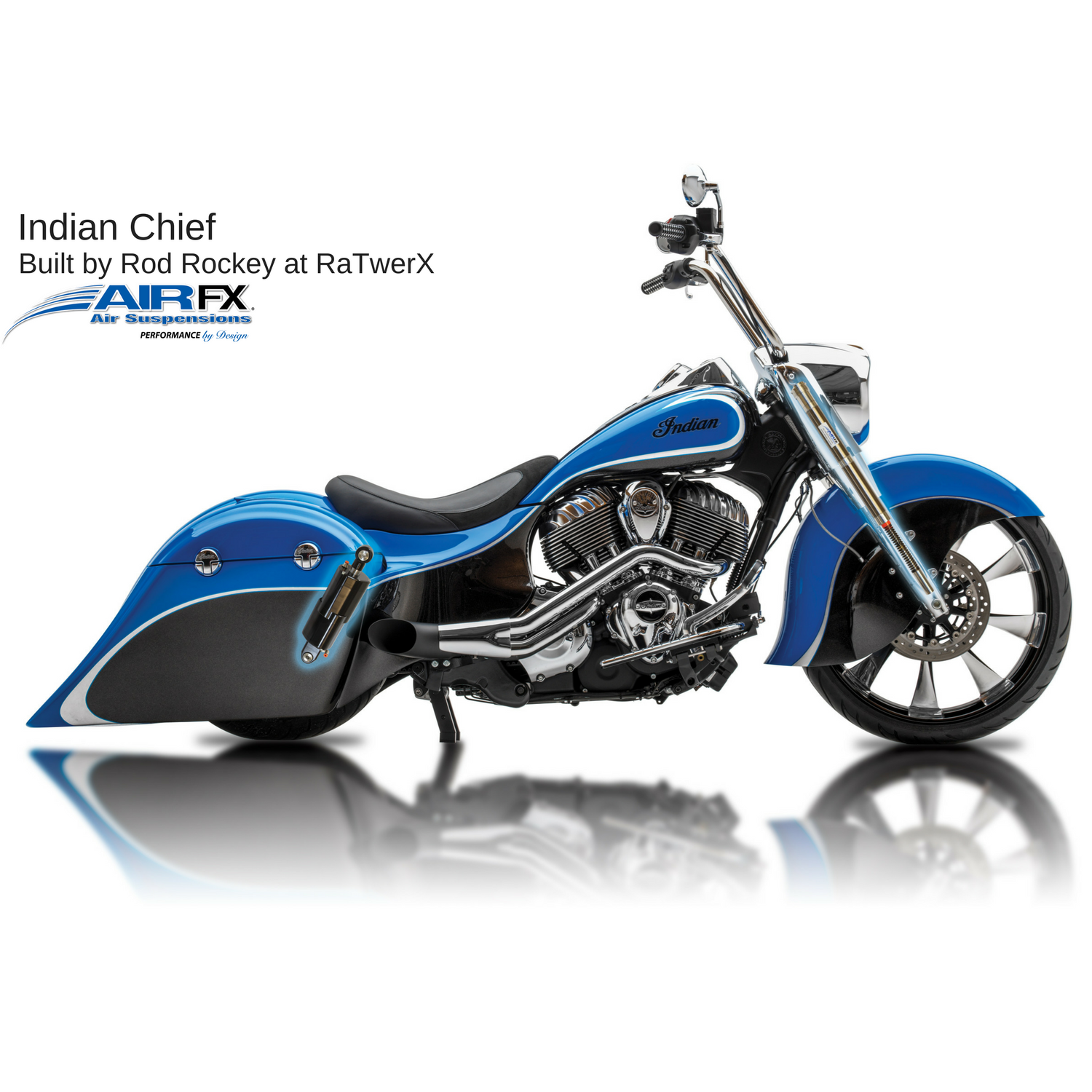 Front cartridge pair 2014-2018 Indian Chief/Chieftain with 23 inch front wheel