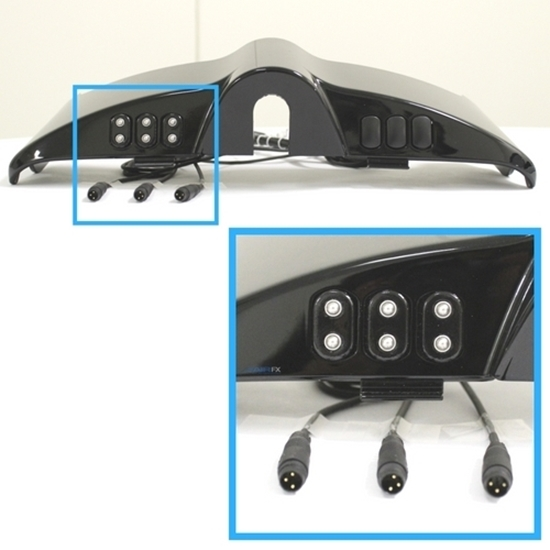 Picture of Triple Micro Buttons, Black, 2014+ HD FL Touring Dash